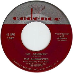 Mr. Sandman - Image: Mr Sandman (Chordettes)