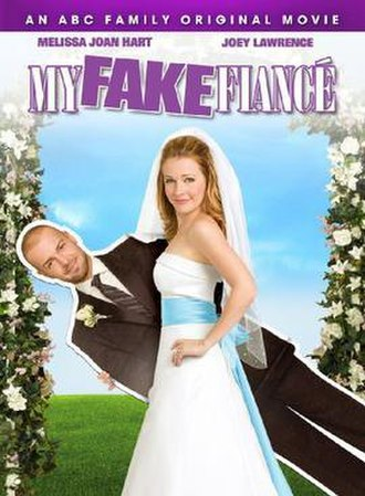 My Fake Fiancé - Promotional poster featuring Melissa Joan Hart and Joey Lawrence.