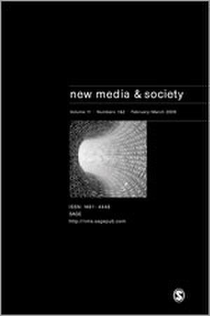 New Media & Society - Image: New media & Society