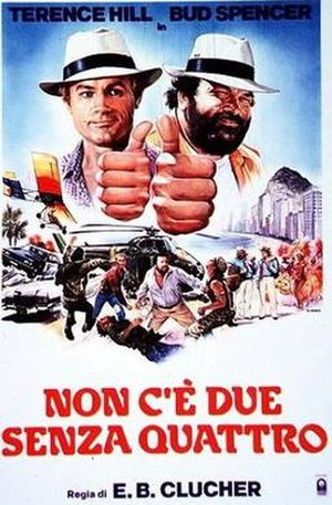 Double Trouble (1984 film) - Italian theatrical release poster by Renato Casaro