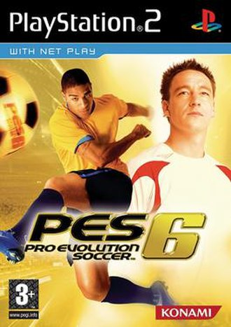 Pro Evolution Soccer 6 - European art cover featuring Adriano and John Terry
