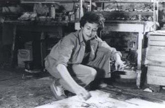 Kathleen Gemberling Adkison - Image: Photo of Kathleen Gemberling Adkison in her studio