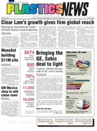 Plastics News - Plastics News - May 28, 2007