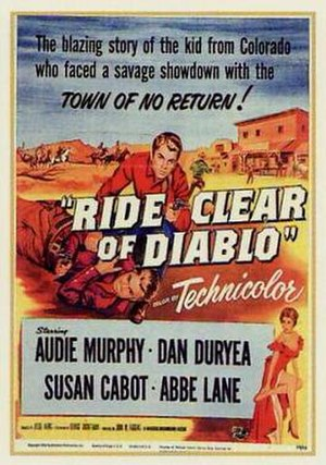 Ride Clear of Diablo - Film poster by Reynold Brown