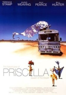 <i>The Adventures of Priscilla, Queen of the Desert</i> 1994 Australian comedy-drama film directed by Stephan Elliott