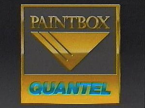 Quantel Paintbox - Quantel Paintbox logo (1990)