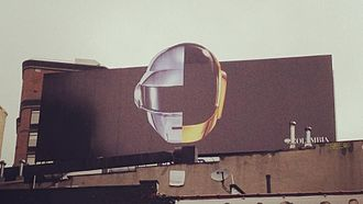 Daft Punk - Billboard in New York City promoting Random Access Memories in March 2013