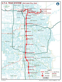 Northern Trax and neighborhood proximity map.