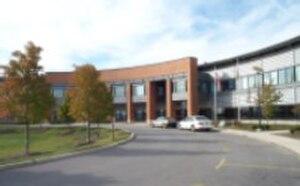Carl Sandburg High School - Image: Sandburg Entrance