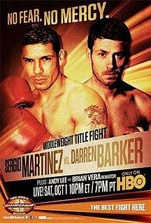 Sergio Martínez vs. Darren Barker Boxing competition