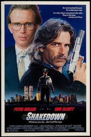 Shakedown (1988 film) - Theatrical release poster
