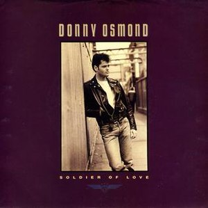 Soldier of Love (Donny Osmond song) - Image: Soldier of Love cover