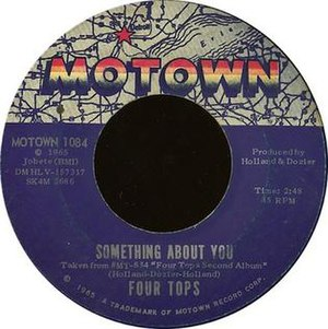 Something About You (Four Tops song) - Image: Something About You label