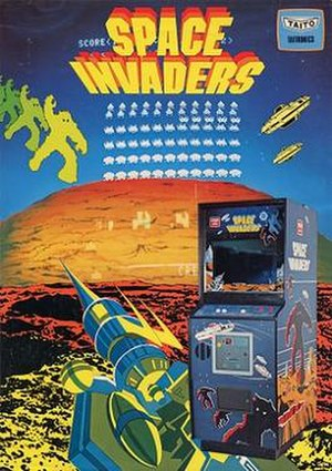Space Invaders - A promotional flyer for Space Invaders