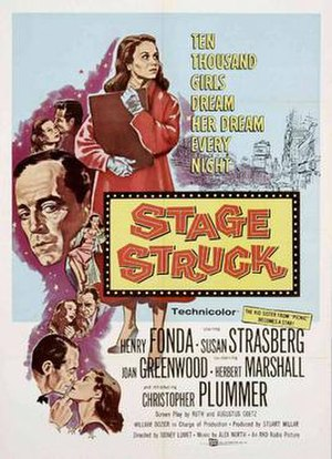 Stage Struck (1958 film) - Theatrical release poster