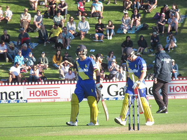 Otago Volts batsmen at the Basin Reserve in December 2019