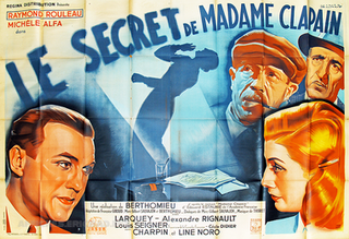 <i>The Secret of Madame Clapain</i> 1943 film directed by André Berthomieu