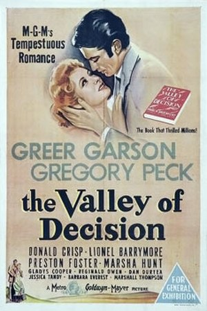 The Valley of Decision - Theatrical poster to The Valley of Decision (1945)