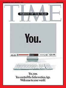 Time Person Of The Year 2006 Cover >> You (Time Person of the Year) - Wikipedia