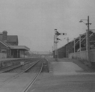 Great Torrington - Torrington station on 15 June 1969 looking towards Bideford.