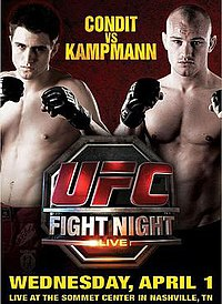 A poster or logo for UFC Fight Night: Condit vs. Kampmann.