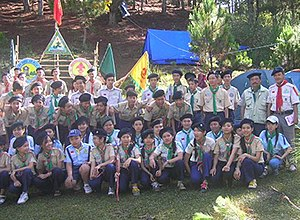 Vietnamese Scout Association - Exploring Mount LangBian and visiting Tùng Nguyên Training Camp on May 2007 - Da Lat, Vietnam