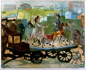 Jacques Villon - Le Petit Manège, rue Caulaincourt, 1905, University of Michigan Museum of Art