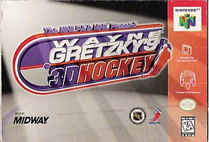 Wayne Gretzky's 3D Hockey - North American Nintendo 64 cover art