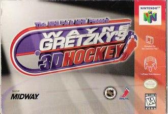 Wayne Gretzky's 3D Hockey - North American Nintendo 64 cover art