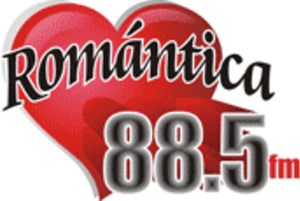 XHAFQ-FM - Logo as Romántica used until 2017