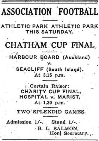 1924 Chatham Cup - Advertisement in the New Zealand Truth newspaper for the final.