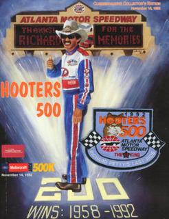 1992 Hooters 500 Motor car race