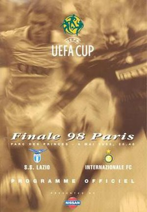 1998 UEFA Cup Final - Match programme cover