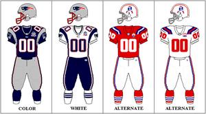 2009 New England Patriots season - Image: AFCE 2009 Uniform NE