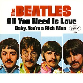 All You Need Is Love - Image: All You Need Is Love (Beatles single cover art)