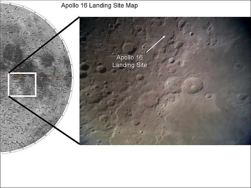 अपोलो 16 द्वारा चन्द्रमा पर उतरने का स्थान
