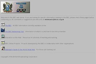 BBC Online - The BBC Networking club, 1994
