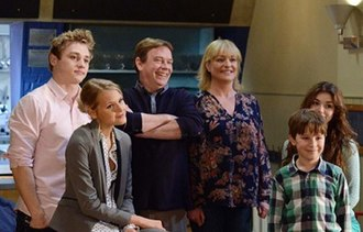Beale family - From left to right: Peter, Lucy, Ian, Jane, Bobby and Cindy in 2014