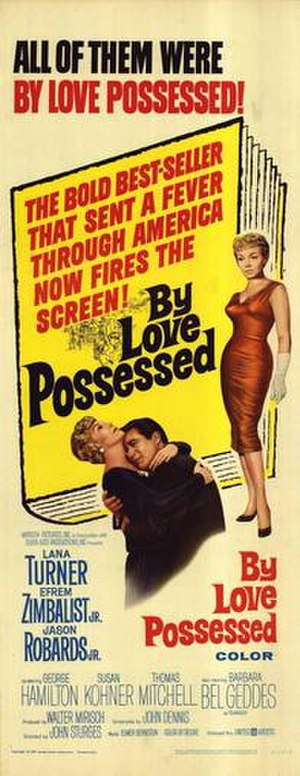By Love Possessed (film) - Theatrical release poster