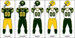 The Edmonton Eskimos 2012 2015 Uniform Combinations