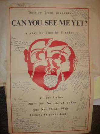 Union Theatre (Peterborough) - Image: Can you see me yet Nov 89