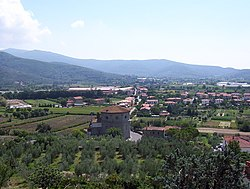 The valley below Castiglion Fiorentino