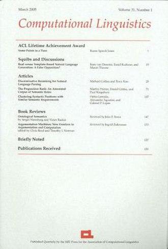 Computational Linguistics (journal) - Image: Computational Linguistics
