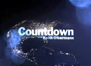 <i>Countdown with Keith Olbermann</i> news and political commentary program