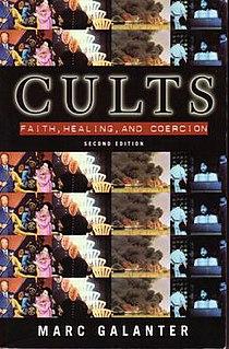<i>Cults: Faith, Healing and Coercion</i> book by Marc Galanter