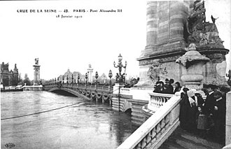 1910 Great Flood of Paris - Image: Flood Pont Alexandre III