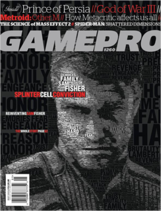 GamePro - Gamepro magazine, May 2010 issue cover: Tom Clancy's Splinter Cell: Conviction