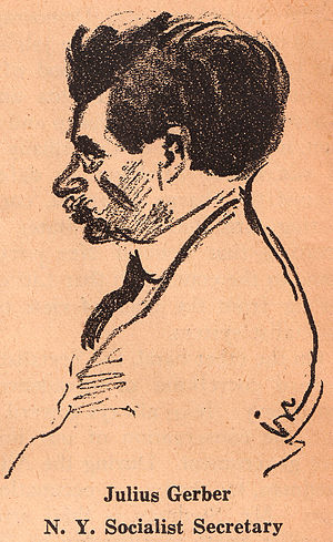 Julius Gerber - Julius Gerber, as drawn by Robert Minor in The Liberator, January 1920.