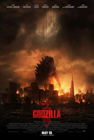 MonsterVerse - Theatrical poster for Godzilla (2014)