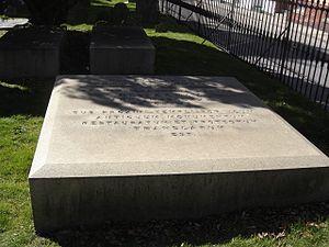 Charles-Henri-Louis d'Arsac de Ternay - Ternay's grave at the Trinity Churchyard in Newport